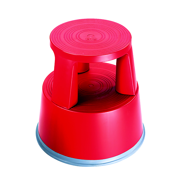 2Work Plastic Step Stool Red T7/​Red