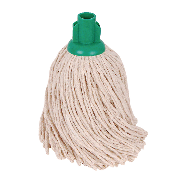 2Work 14oz PY Smooth Socket Mop Green (10 Pack) PJYG1410I