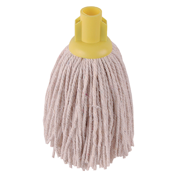 2Work 14oz PY Smooth Socket Mop Yellow (10 Pack) PJYY1420I