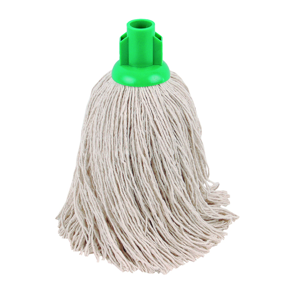 2Work 14oz Twine Rough Socket Mop Green (10 Pack) PJTG1410I