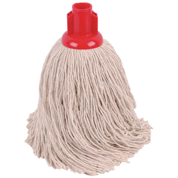 2Work 14oz Twine Rough Socket Mop Red (10 Pack) 101855