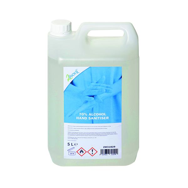 2Work 70% Alcohol Hand Sanitiser Gel 5L 2W31829