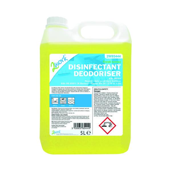 2Work Disinfectant Deodoriser Lemon Scent 202