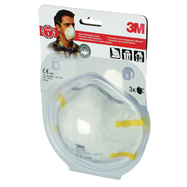 3M Cup Shaped FFP1 Respirator 8710E (3 Pack) XA004838000