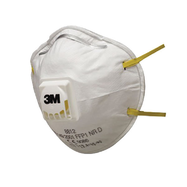 3M Cup Shaped FFP1 Valved Respirator 8812 (2 Pack) XA004838034