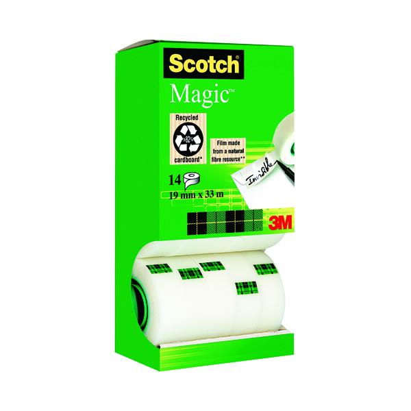 Scotch Magic Tape 810 Tower Pack 19mm x 33m (14 Pack) 81933R14