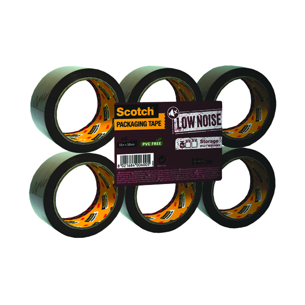 Scotch Packaging Tape Low Noise 48mm x 66m Brown (6 Pack) 3120B4866