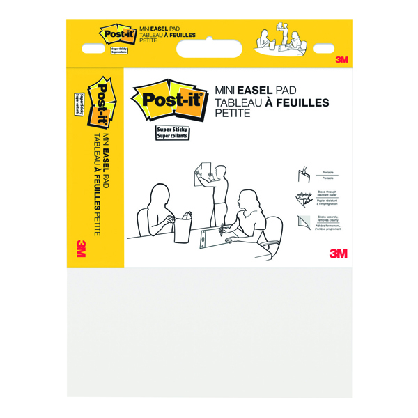 Post-It Super Sticky Mini Meeting Chart 381mm x 457mm White 577SS