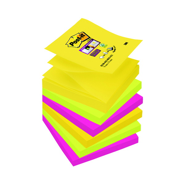 Post-it Super Sticky Z-Note 76 x 76mm Rio Collection (6 Pack) R330-6SS-RIO-EU