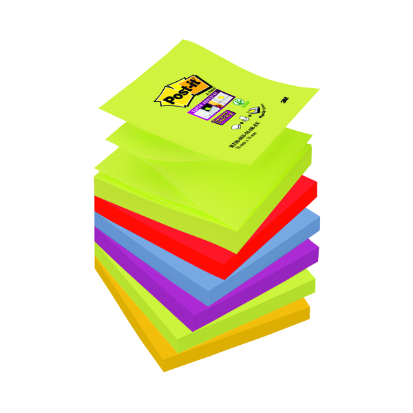 Post-it Super Sticky Z-Notes 76 x 76mm Marrakesh Collection (6 Pack) R330-6SS-MAR-EU