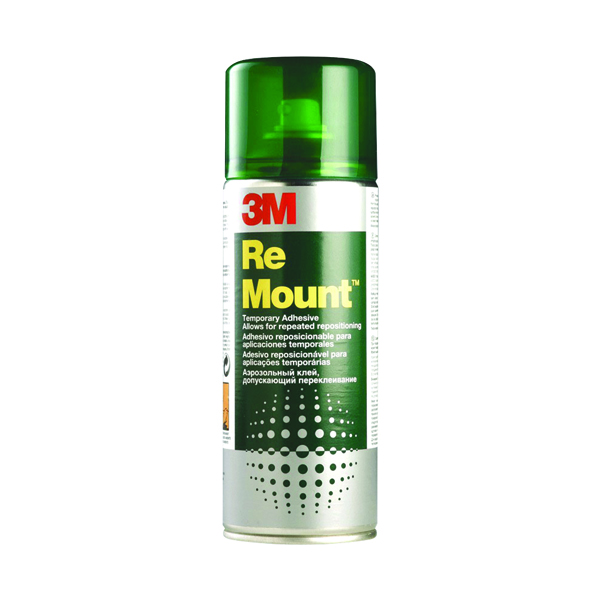 3M ReMount Creative Spray Repositionable Adhesive 400ml REMOUNT