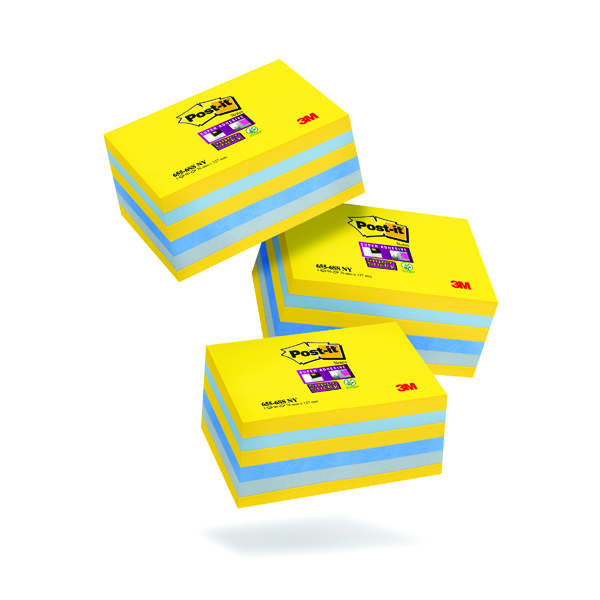Post-It Super Sticky New York 76x127mm (6 Pack) 3 For 2