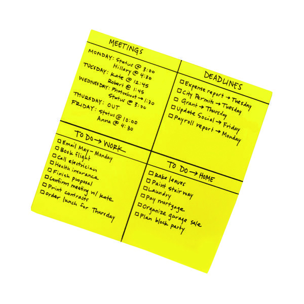 Post-it Super Sticky Yellow Big Notes 279 x 279mm (30 Pack) BN11-EU
