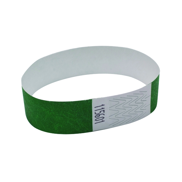 Announce Wrist Bands 19mm Green (1000 Pack) AA01834