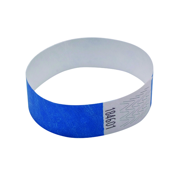 Announce Wrist Bands 19mm Blue (1000 Pack) AA01835