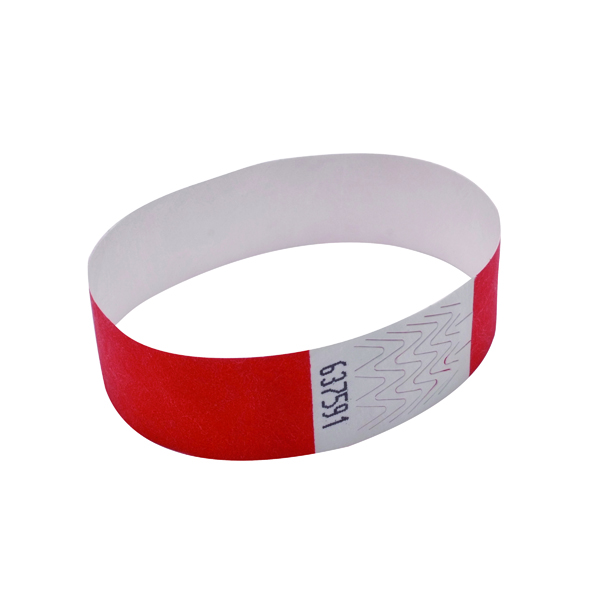 Announce Wrist Bands 19mm Warm Red (1000 Pack) AA01839