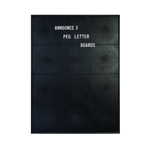 Announce Peg Letter Board 463 x 615mm 1/ECON-3/VC/EC-KIT692
