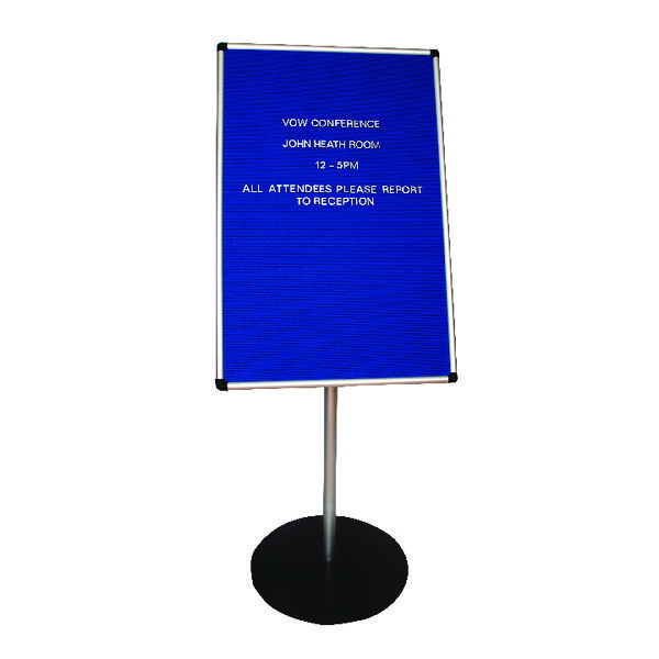 Announce Groove Letter Board with Stand 900x600mm AA847001