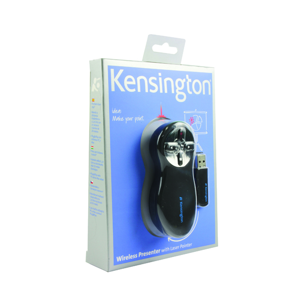 Kensington Wireless Presenter Red Laser Black /Chrome 33374EU
