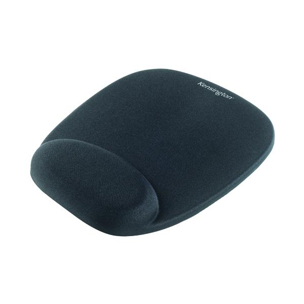 Kensington Foam Mouse Pad Black with Wrist Rest 62384