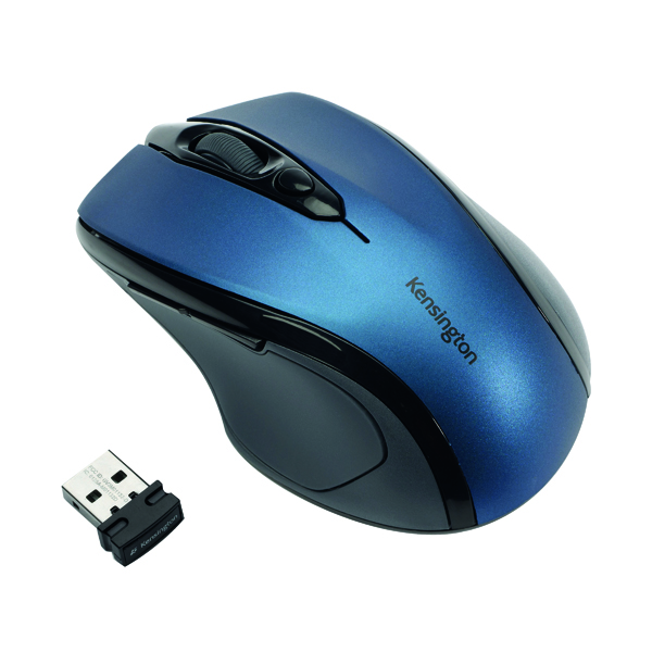 Kensington Pro Fit Mid Size Blue USB Wireless Mouse K72421WW