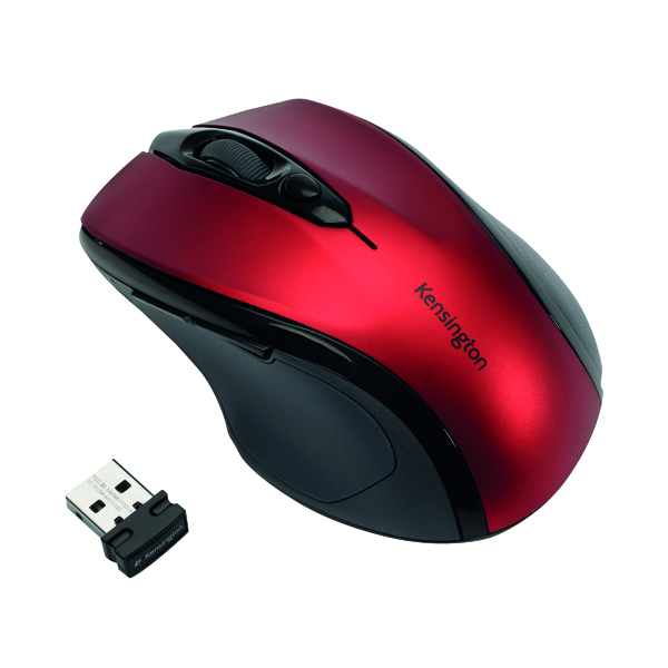 Kensington Pro Fit Mid Size Red USB Wireless Mouse K72422WW