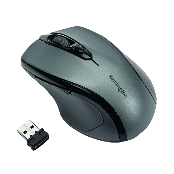 Kensington Pro Fit Mid Size Grey USB Wireless Mouse K72423WW