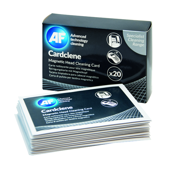 AF Cardclene ATM/POS Magnetic Head Cleaning Cards (20 Pack) CCP020