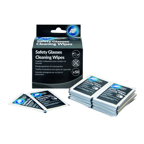 AF Safety Glasses Cleaning Wipes (50 Pack) SGCS050