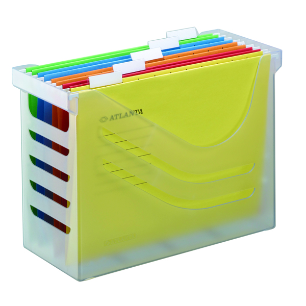 Atlanta Silky Touch Office Box With 5 Files Clear A65802600