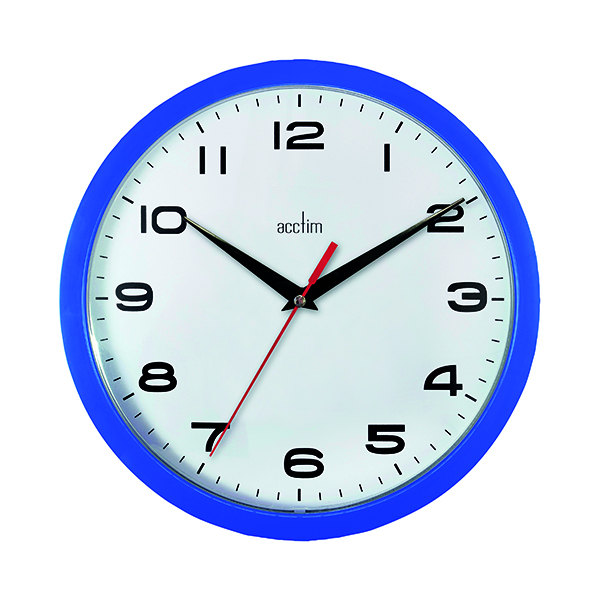 Acctim Aylesbury Wall Clock Blue 92/308