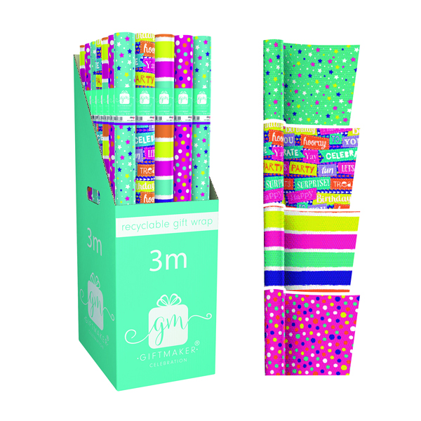 Giftmaker Teen Mix Gift Wrap (42 Pack) Y8GM123G