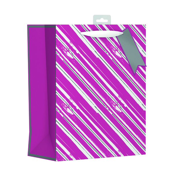 Giftmaker Vertical Stripe Gift Bag Large (6 Pack) FCSL