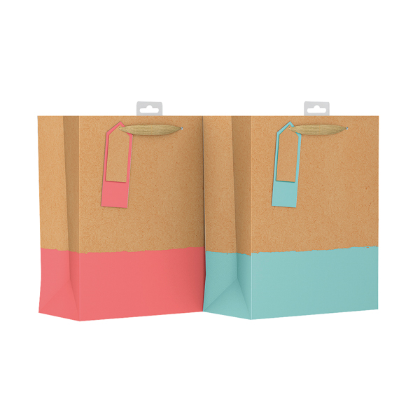 Giftmaker Colour Dipped Gift Bag Large (6 Pack) GDPL