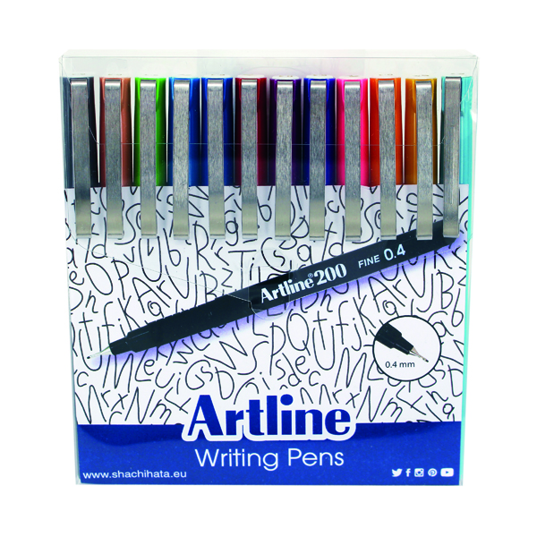 Artline EK200 Writing Pen Fashion Shades Assorted (12 Pack) EK200W12