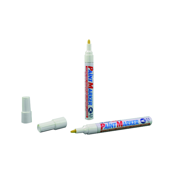 Artline 400 Bullet Tip Paint Marker Medium White (12 Pack) A400