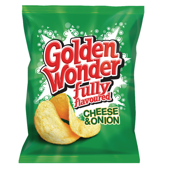 Golden wonder cheese and onion Crisp (32 Pack) 121298