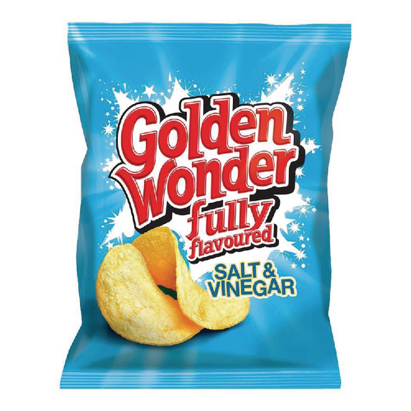 Golden Wonder Salt and Vinegar Crisp (32 Pack) 121303