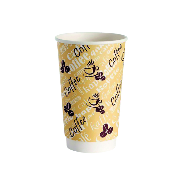 4Aces Double Wall 12oz Red Bean Paper Cup (500 Pack) HVDWPA12
