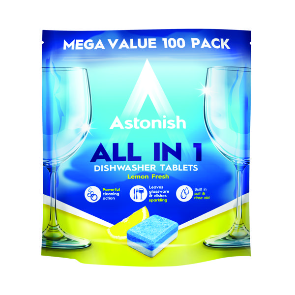 Astonish All in 1 Dishwaster Tablets Blue (Pack of 100) AST21073