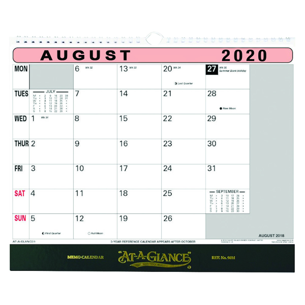 At-A-Glance Flip Over Wall Calendar 2020 90M20