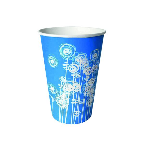Aqua Swirl 7oz Paper Water Cup (100 Pack)