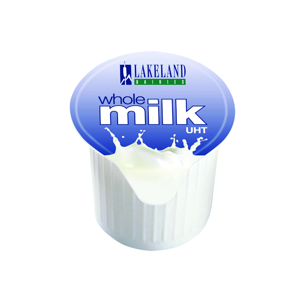 Lakeland Full Fat Milk Pots (120 Pack) A01982