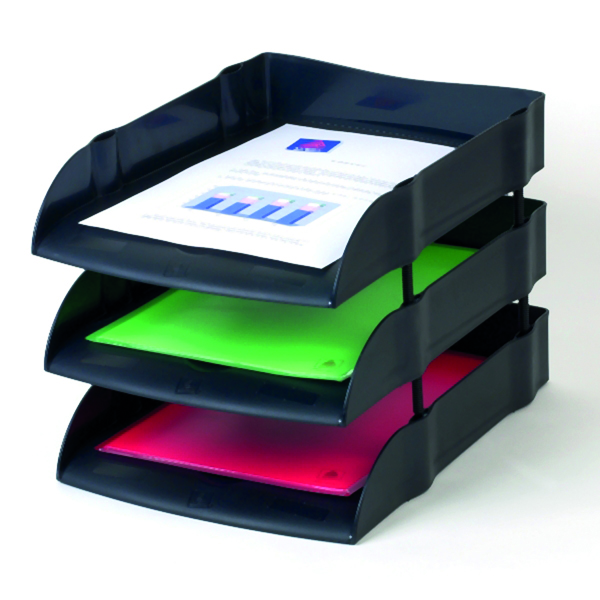 Avery Desktop Range Eco Letter Tray 270x360x60mm Black DR100BLK