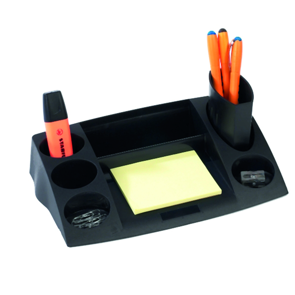 Avery Desktop Range Eco Desk Tidy 270x55.0x152mm Black DR400BLK