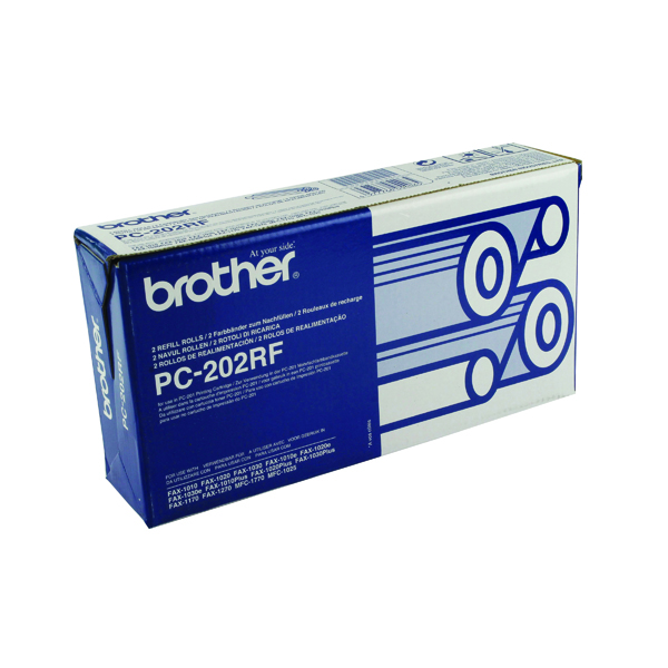 Brother Black Thermal Transfer Film Ribbon (2 Pack) PC202RF