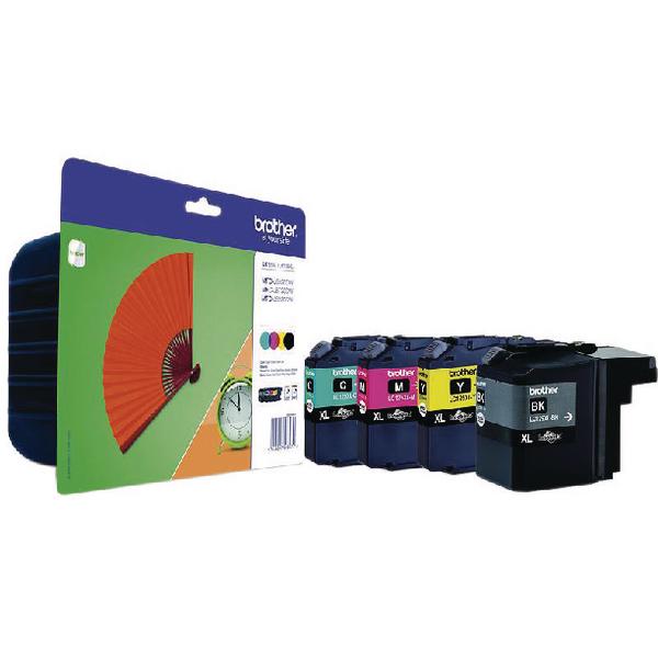 Brother LC125XL/LC129XL Cyan/Magenta/Yellow/Black Inkjet Cartridges (4 Pack) LC129XLVALBP