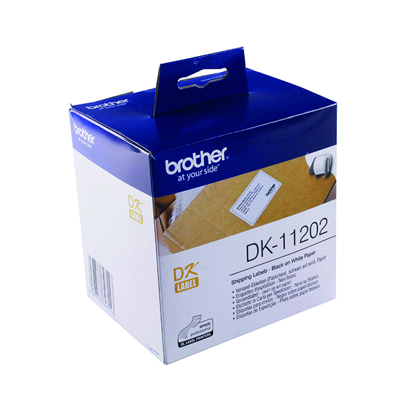 Brother Black on White Paper Shipping Labels (300 Pack) DK11202