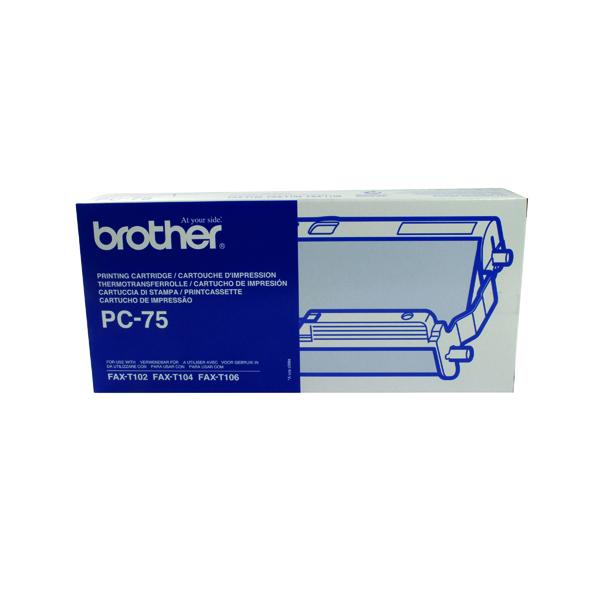 Brother Thermal Transfer Black Ribbon Ink Film PC75
