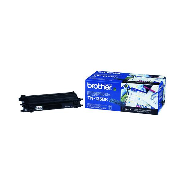 Brother TN135BK Black High Yield Laser Toner Cartridge TN-135BK